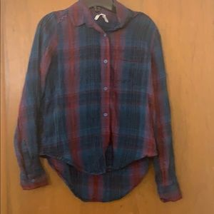 Blue and Maroon Mudd Button Down